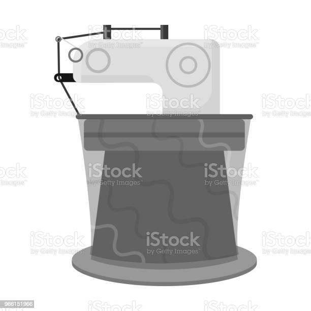 Machinerysingle Icon In Monochrome Stylemachinery Vector Symbol Stock Illustration Web — стоковая векторная графика и другие изображения на тему Без людей