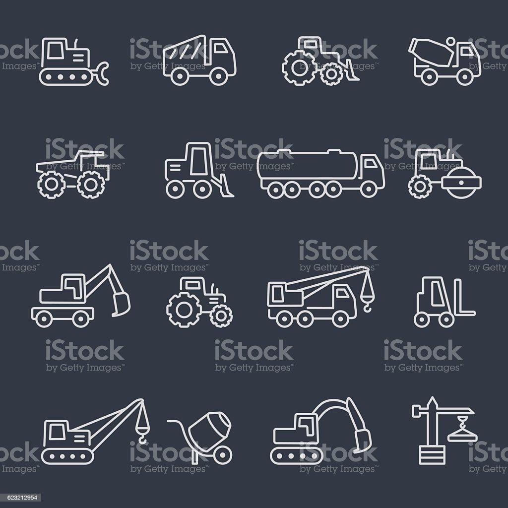 Machines icon set. vector art illustration