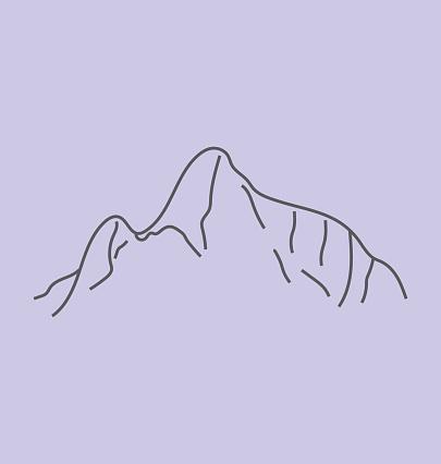 Machu Picchu Solid Vector Illustration