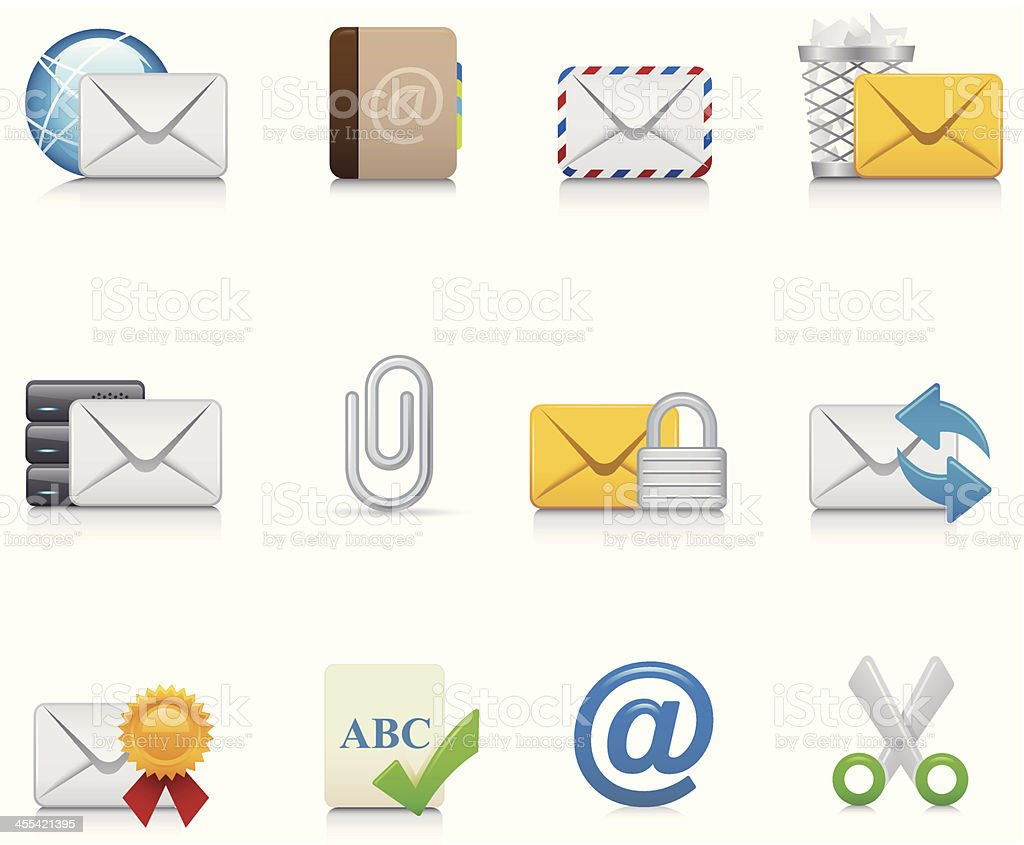 Maco Icon Set | E-Mail vector art illustration