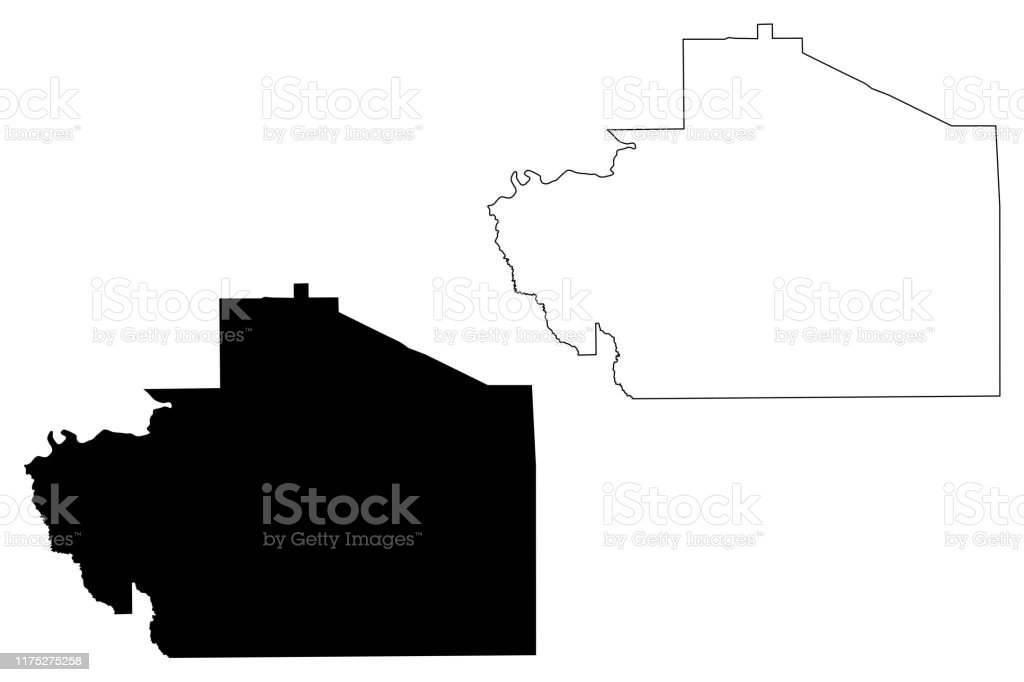 Macon County Alabama Map Vector Illustration Scribble Sketch ...