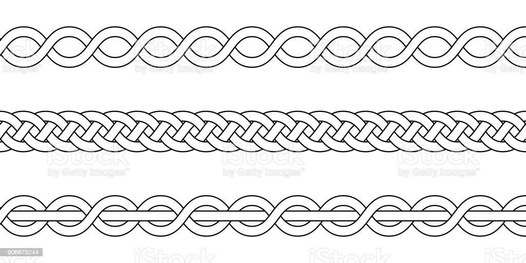 Ilustración de Macrame Crochet Tejido Nudo De La Trenza Vector ...