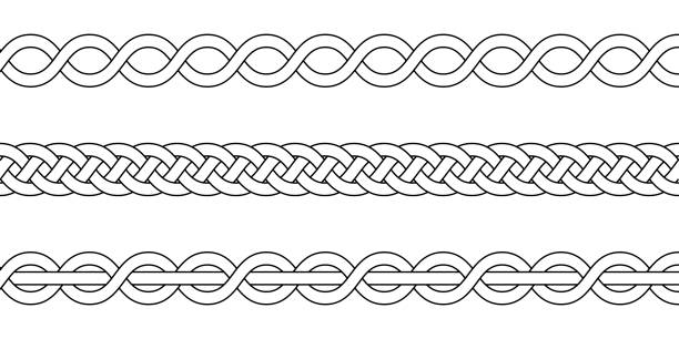 Royalty Free Twisted Rope Clip Art, Vector Images