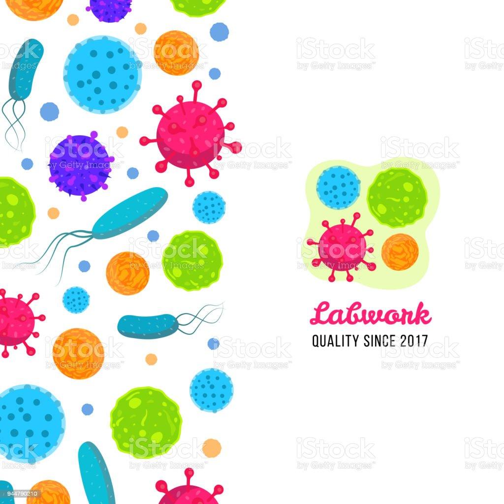 Ilustración de Macro Las Bacterias Y Virus Vector Ilustración De La ...