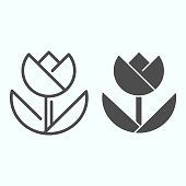 Macro line and solid icon. Macro photography vector illustration isolated on white. Flower in macro outline style design, designed for web and app. Eps 10