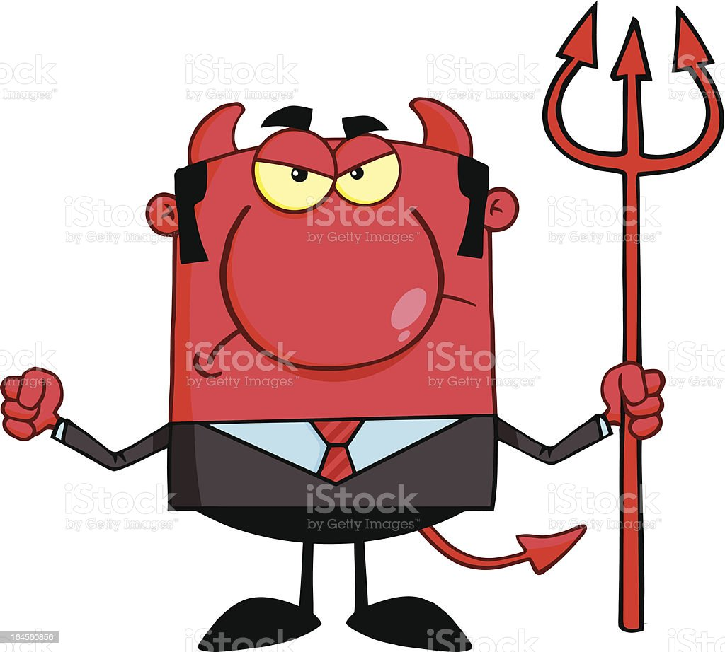 Mad Devil Boss With A Trident royalty-free mad devil boss with a trident stock vector art & more images of adult
