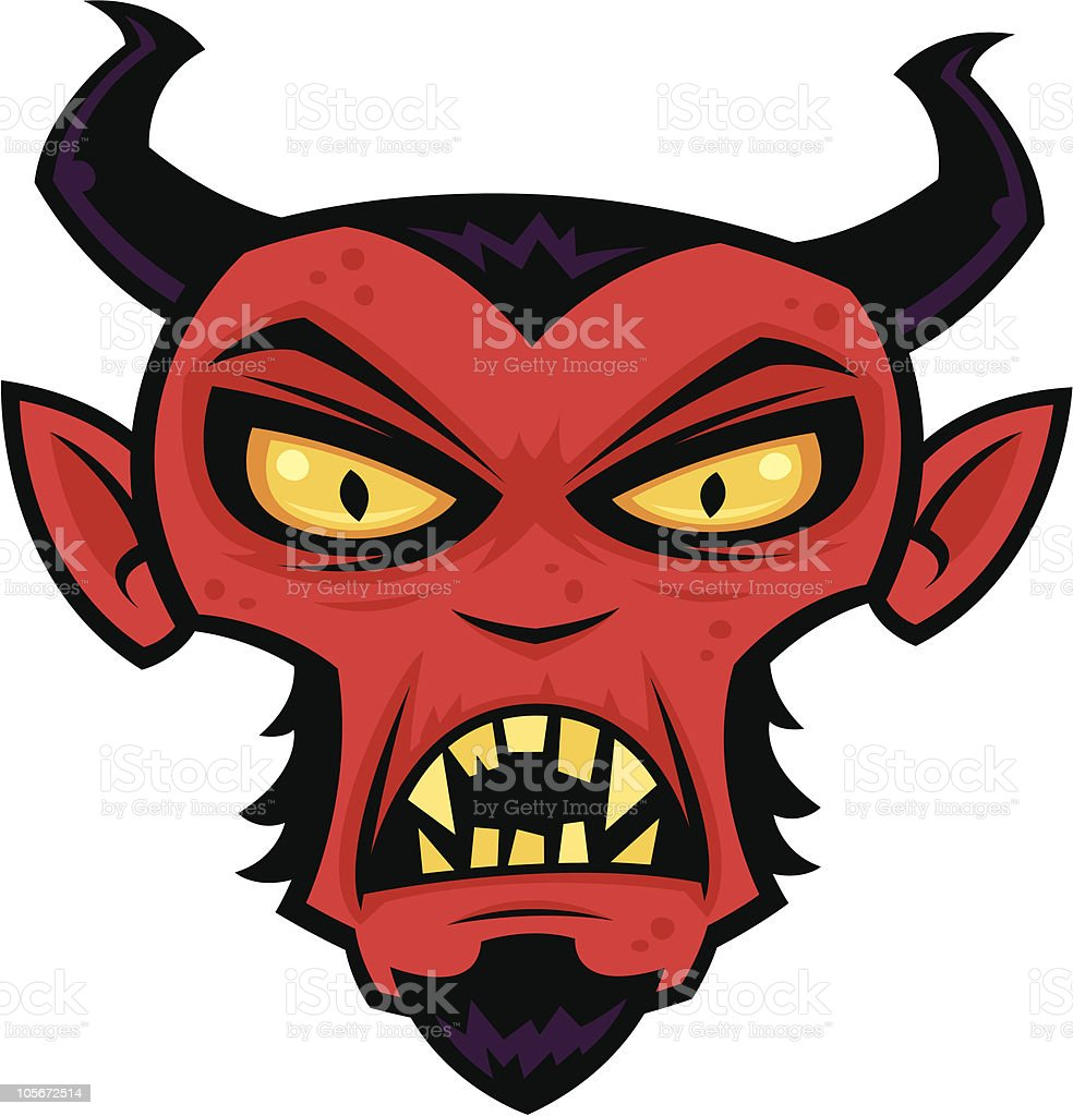 Mad Devil vector art illustration