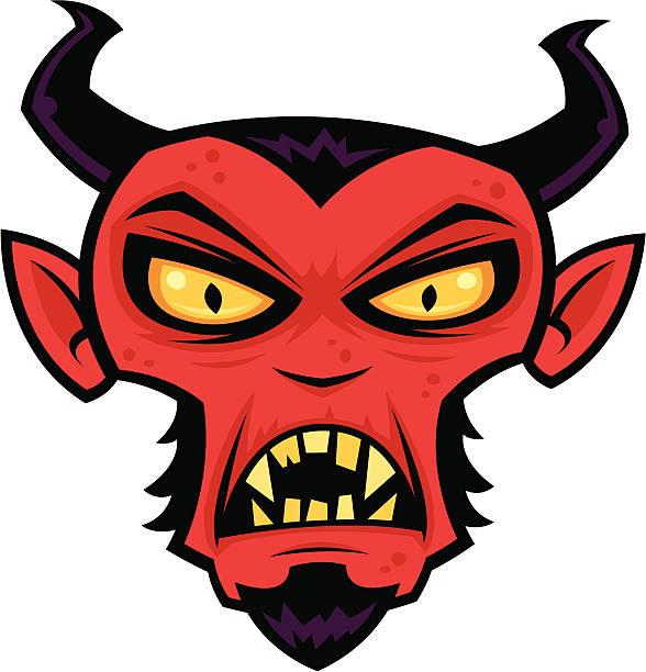 Mad Devil vector art illustration
