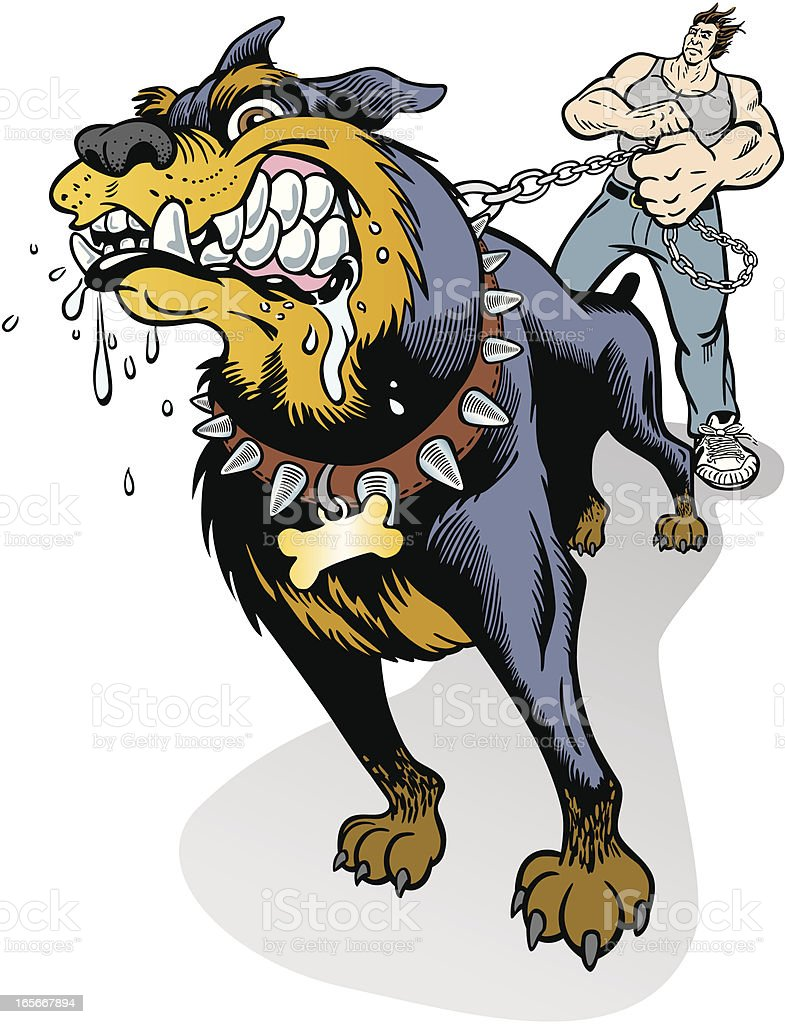 Mad Dog On Leash royalty-free mad dog on leash stock vector art & more images of adult