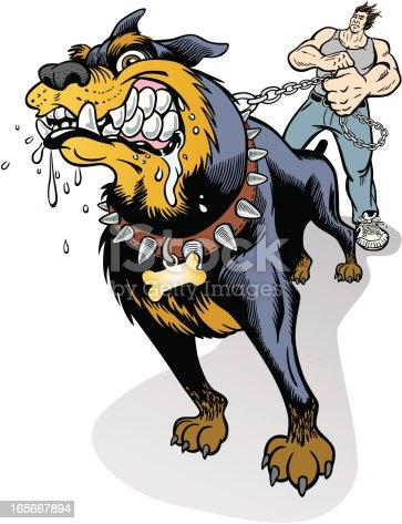 Mad Dog On Leash