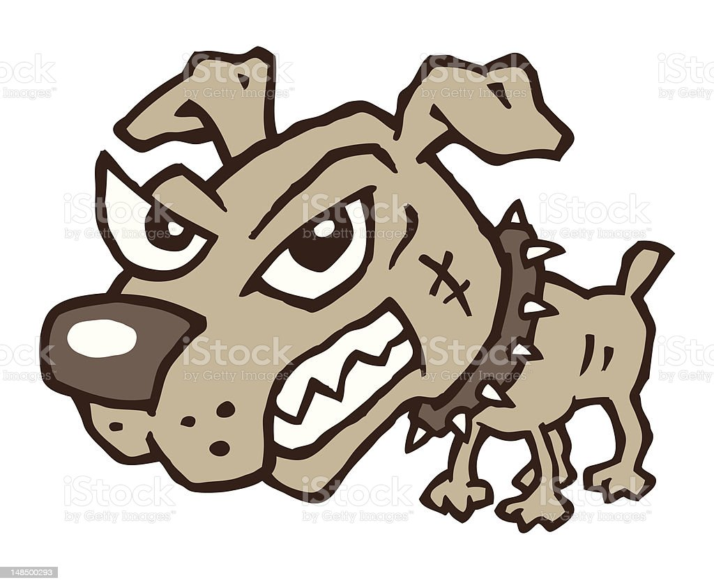 Mad Dog vector art illustration