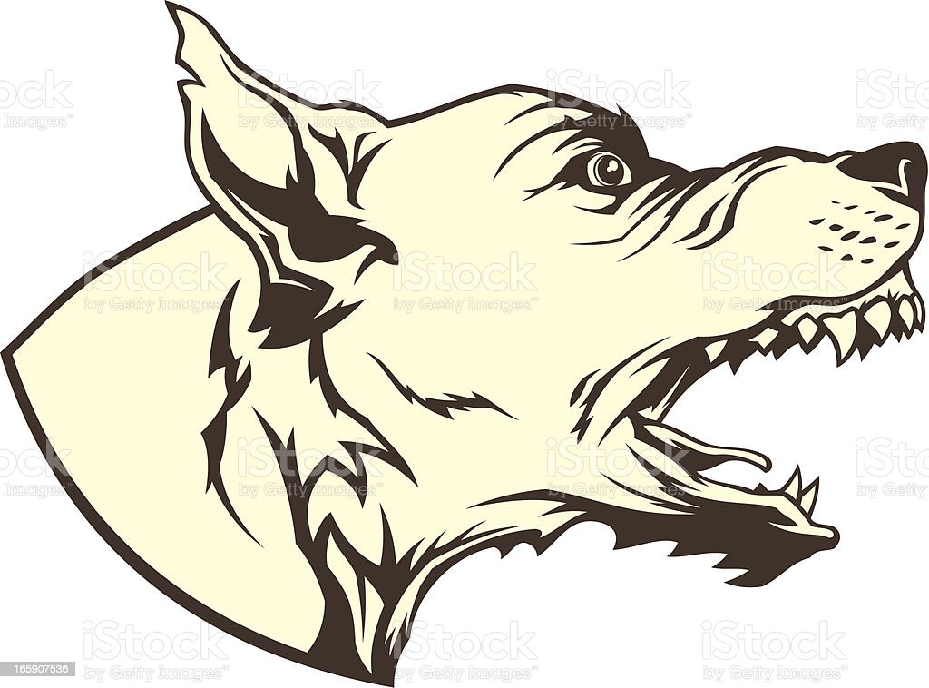 Mad dog vector art illustration