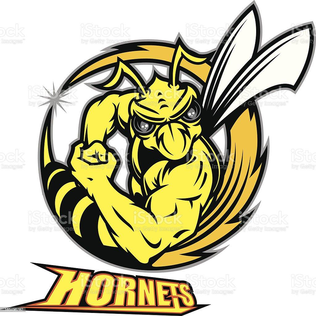 Mad Hornet Buzzsaw vector art illustration
