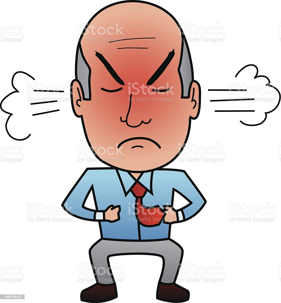 royalty free steaming mad male cartoon clip art vector images rh istockphoto com mad science clipart mad clip art face