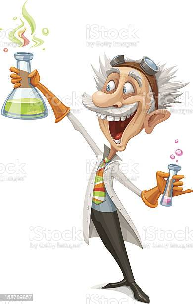 Mad Scientist Stock Illustration - Download Image Now