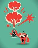 Vector illustration – Mad Scientist.