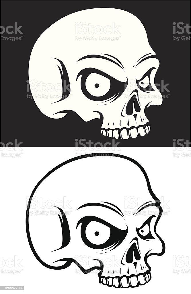 Mad skull royalty-free stock vector art