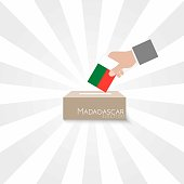 Madagascar Elections Vote Box Vector Work