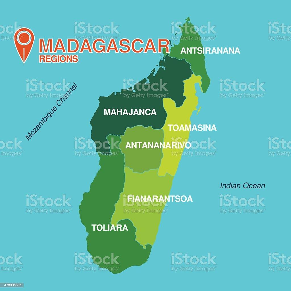 Madagascar Map Regions Stock Illustration - Download Image ...