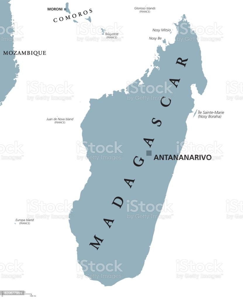 Madagascar Political Map Stock Vector Art More Images Of Africa