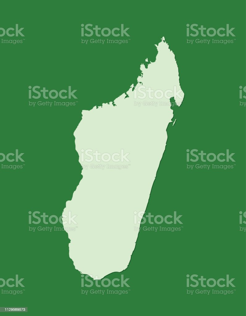 Carte Verte Madagascar.Carte De Vecteur De Madagascar Avec Superficie Unique A