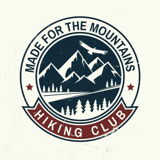 Feito para a montanha - ilustração de arte em vetor