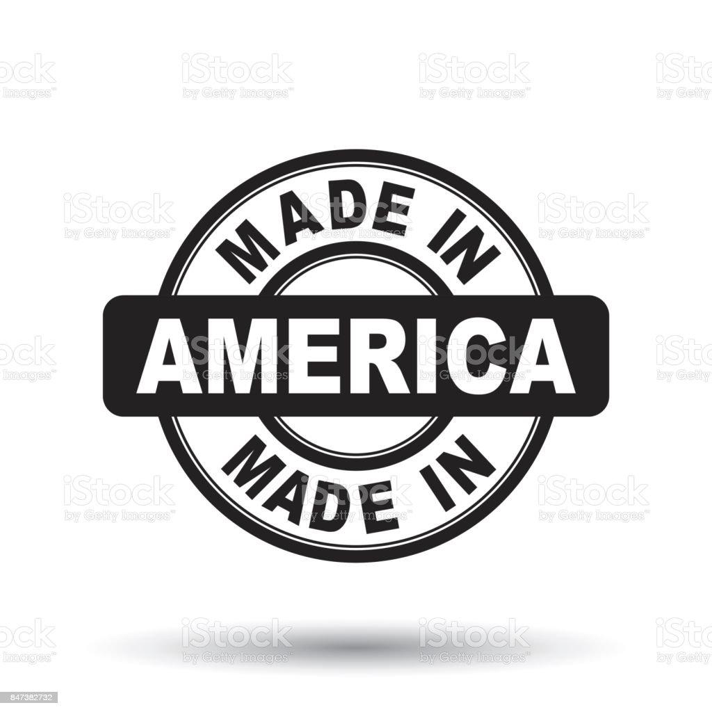 Feita no selo da América negra. Ilustração vetorial no fundo branco - ilustração de arte em vetor