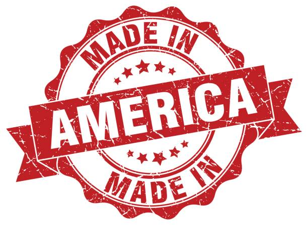 made in america round seal - wykonać stock illustrations