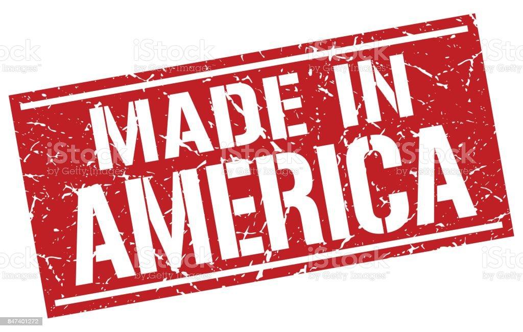 feita no selo de América - ilustração de arte em vetor