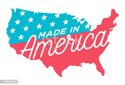 Made in America United States Symbol Illustration.