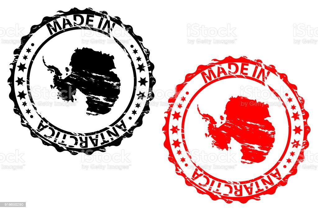 Made in Antarctica rubber stamp vector art illustration