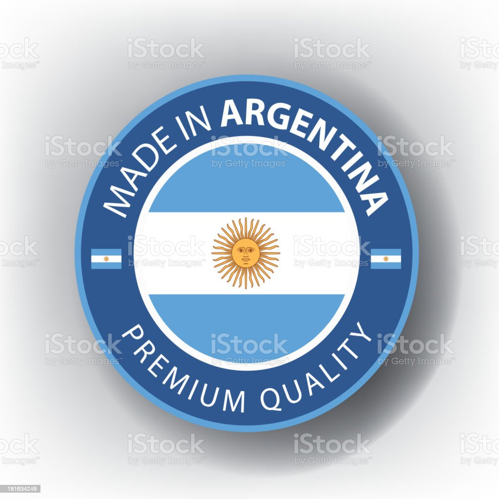 Made in ARGENTINA, Argentinian seal, Flag, (Vector) royalty-free made in argentina argentinian seal flag stock vector art & more images of argentina