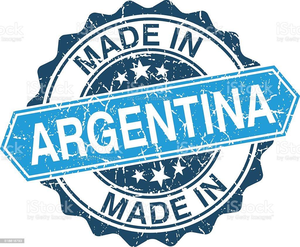 Ilustración de Argentina Hecho En Sello Vintage Aislado Sobre ...