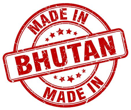 Bhutan Kırmızı Grunge Yuvarlak Yapılmış Damga Stok Vektör Sanatı & Amblem'nin Daha Fazla Görseli