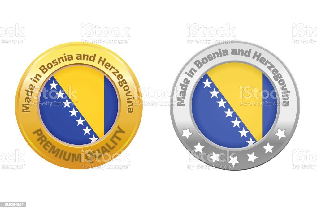 Made in Bosnia and Herzegovina logo - Illustration vectorielle