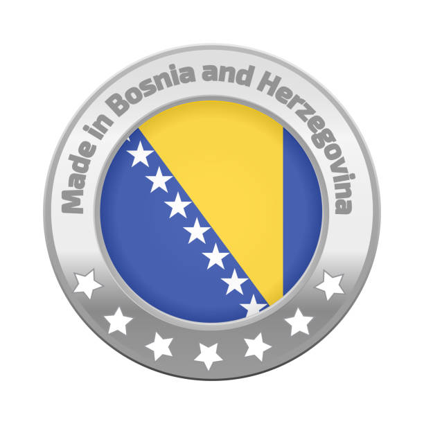 Made in Bosnia and Herzegovina logo - Illustration vectorielle