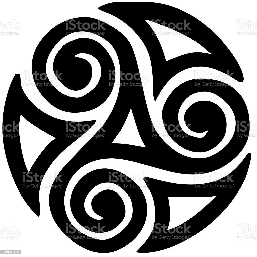 Fait en Bretagne, étiquette de vecteur - Illustration vectorielle