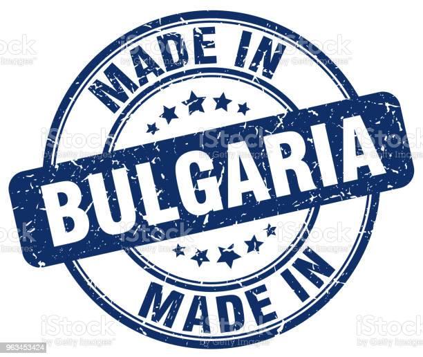 Bulgaristan Mavi Grunge Yuvarlak Yapılmış Damga Stok Vektör Sanatı & Amblem'nin Daha Fazla Görseli