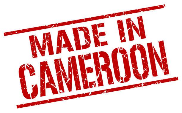 in kamerun stempel gemacht - kamerun stock-grafiken, -clipart, -cartoons und -symbole