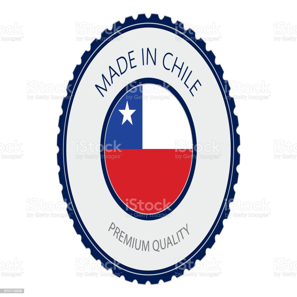 Made in Chile Seal, Chilean Flag (Vector Art) royalty-free made in chile seal chilean flag stock vector art & more images of badge
