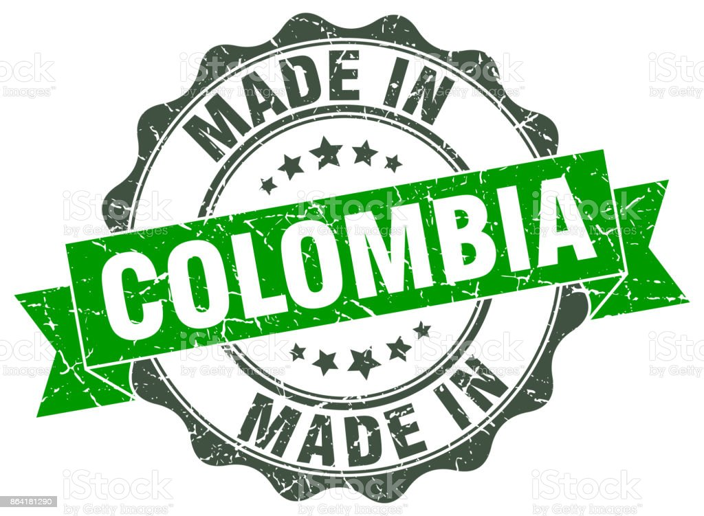 made in Colombia round seal royalty-free made in colombia round seal stock vector art & more images of award ribbon