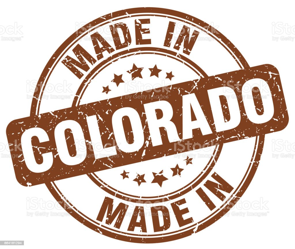 made in Colorado brown grunge round stamp royalty-free made in colorado brown grunge round stamp stock vector art & more images of abdication