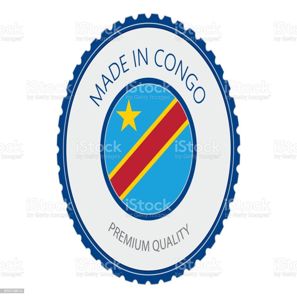 Made in Congo Seal, Republic of the Congo Flag (Vector Art) royalty-free made in congo seal republic of the congo flag stock vector art & more images of badge