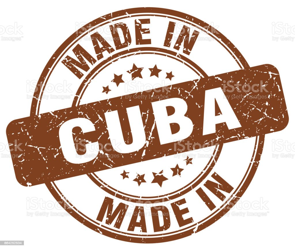 made in Cuba brown grunge round stamp royalty-free made in cuba brown grunge round stamp stock vector art & more images of abdication