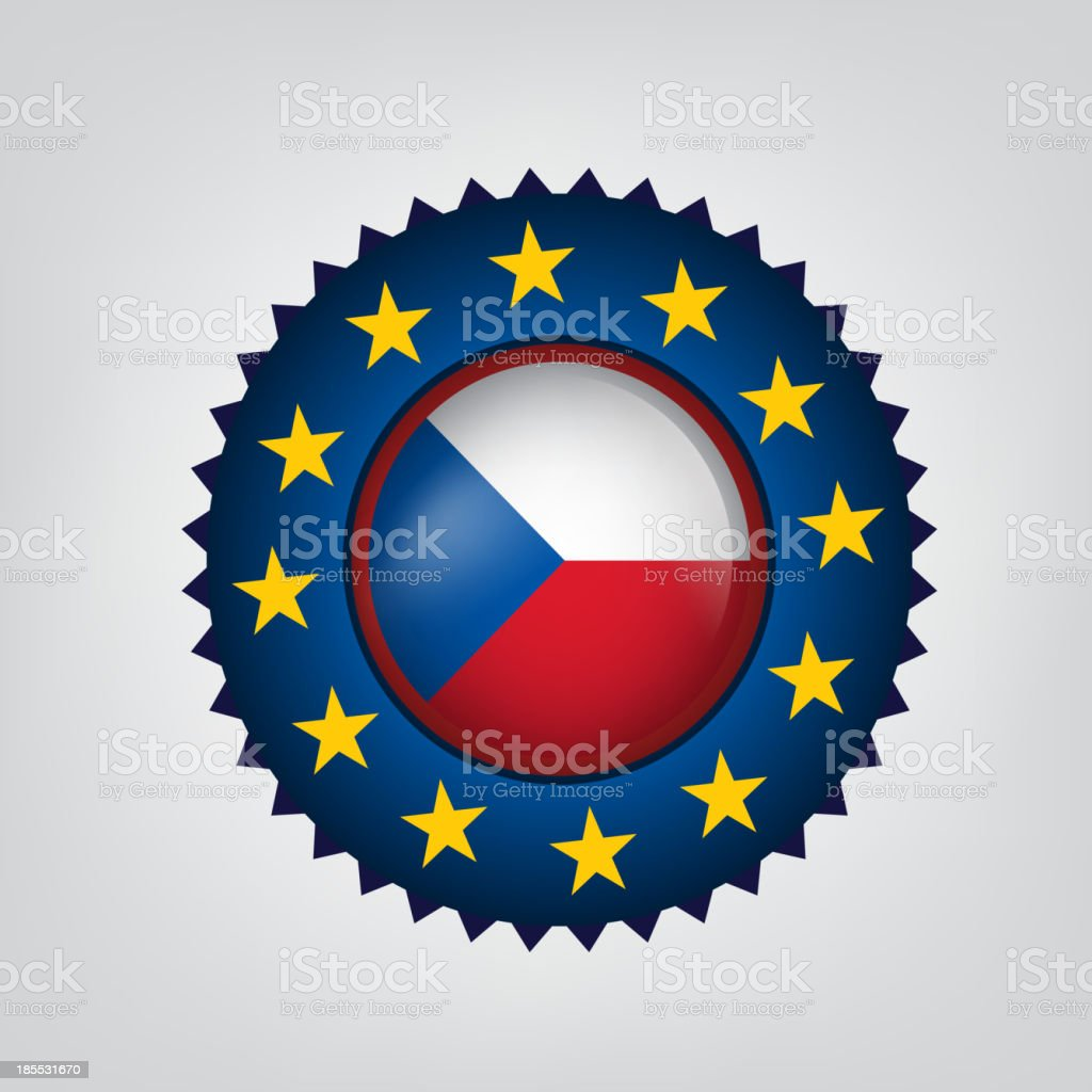 Made in CZECH REPUBLIC, seal, Flag, (Vector) royalty-free made in czech republic seal flag stock vector art & more images of blue
