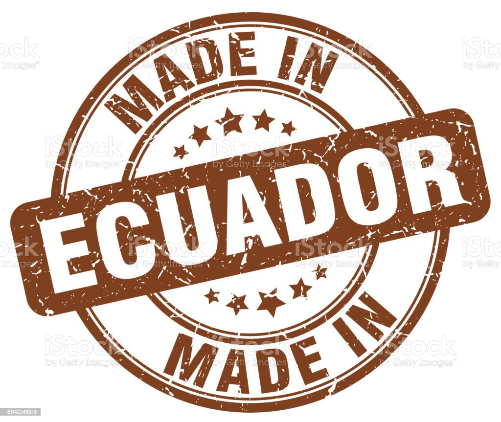 made in Ecuador brown grunge round stamp royalty-free made in ecuador brown grunge round stamp stock vector art & more images of abdication