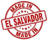 made in El Salvador red grunge round stamp