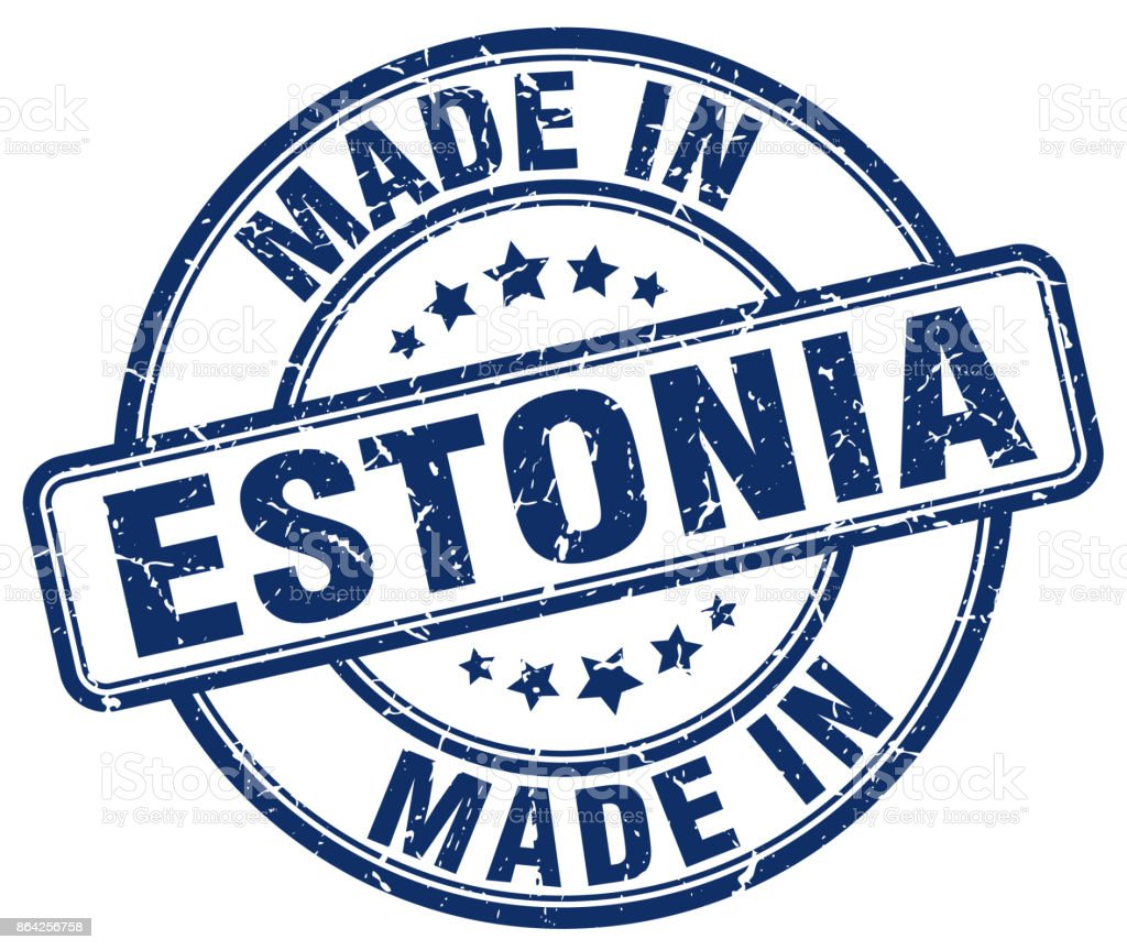 made in Estonia blue grunge round stamp royalty-free made in estonia blue grunge round stamp stock vector art & more images of abdication