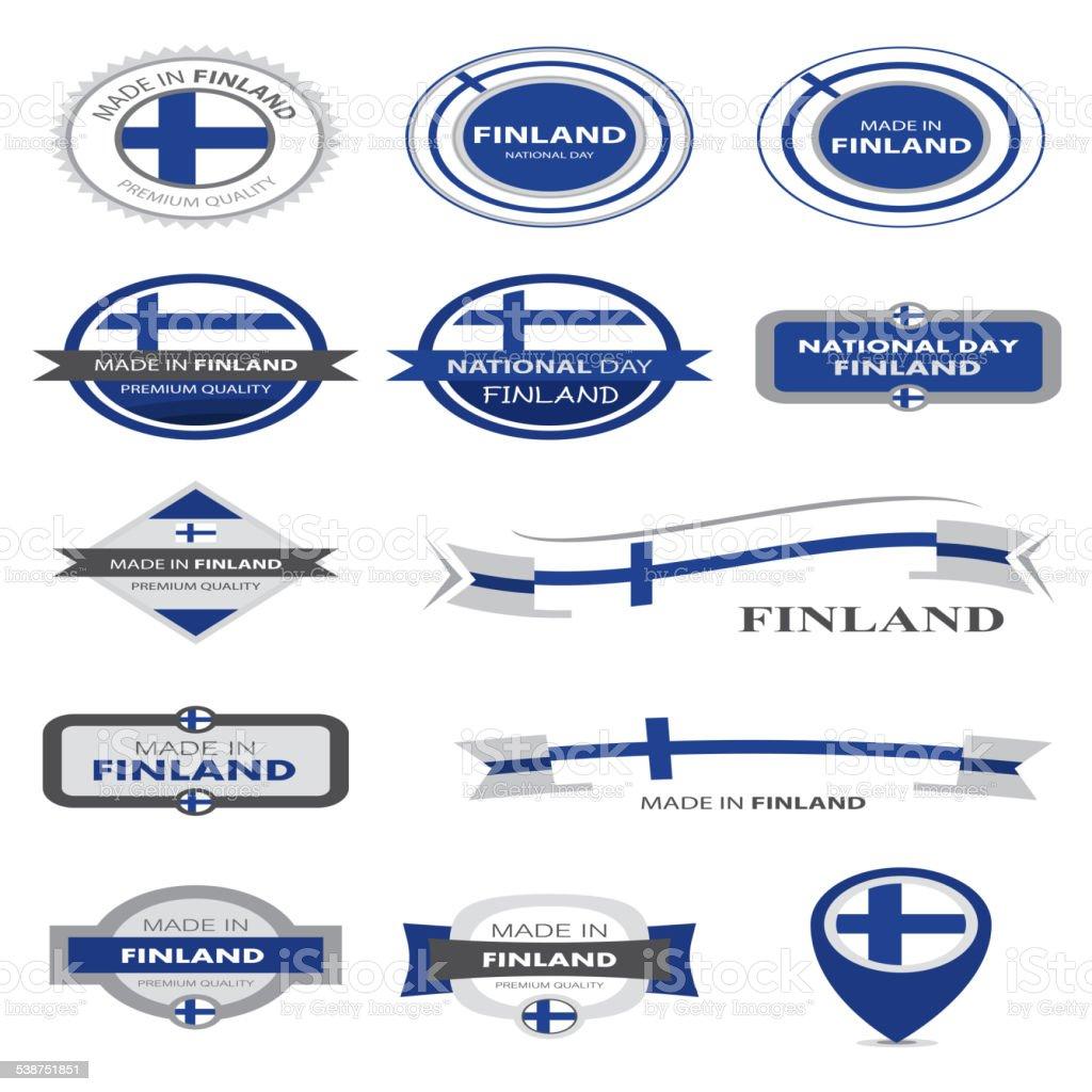 in Finnland Seal Collection, Finnische Flagge (Vektor Kunst) – Vektorgrafik