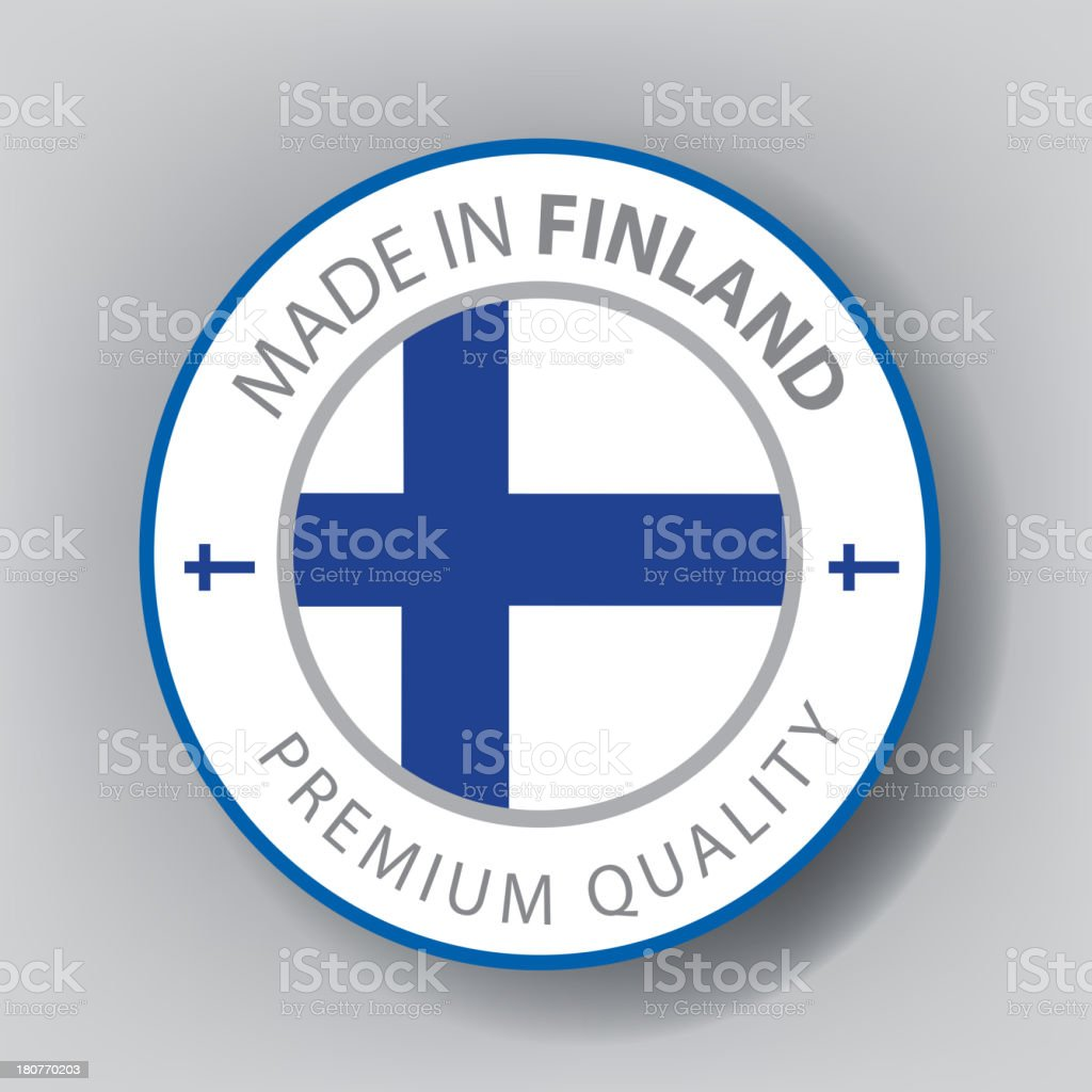 Made in Finland, seal, Flag, (Vector) royalty-free stock vector art